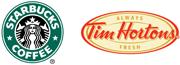Starbucks Tim Hortons Logos
