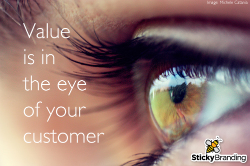 Value is in the eye of your customer