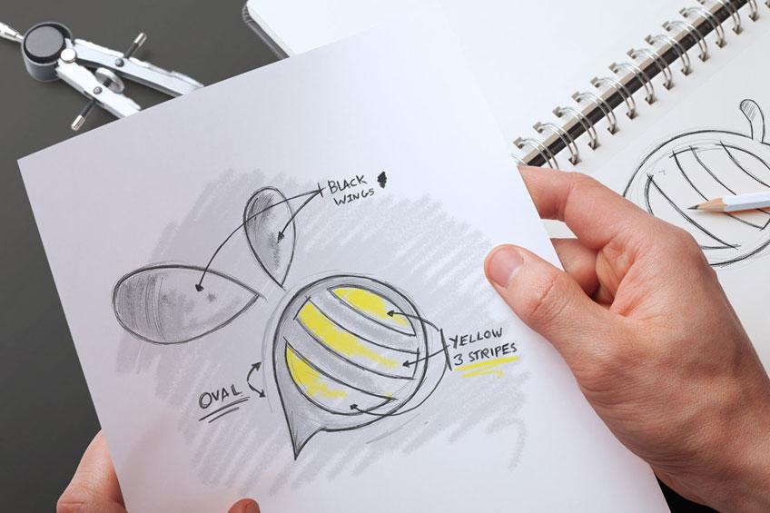 StickyBranding-Bee-Sketch