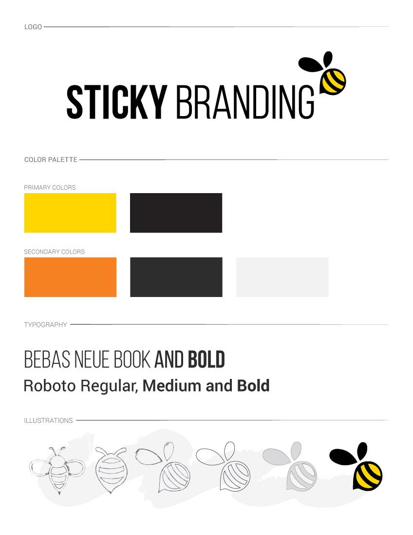 Sticky Branding Brand Guidelines
