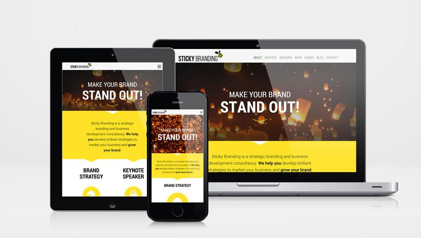 Sticky Branding Website Design