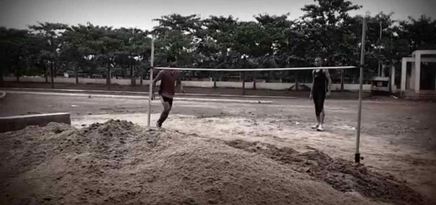 High Jump to Sand